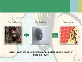 Woman telling secrets PowerPoint Template - Slide 22