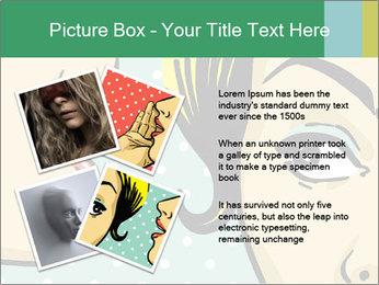 Woman telling secrets PowerPoint Template - Slide 23