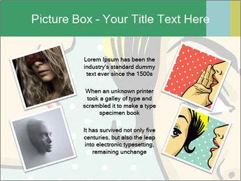 Woman telling secrets PowerPoint Template - Slide 24