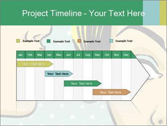 Woman telling secrets PowerPoint Template - Slide 25