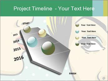 Woman telling secrets PowerPoint Template - Slide 26