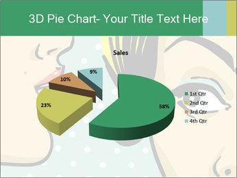 Woman telling secrets PowerPoint Template - Slide 35