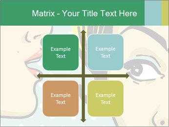Woman telling secrets PowerPoint Template - Slide 37