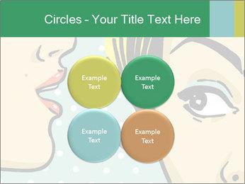 Woman telling secrets PowerPoint Template - Slide 38