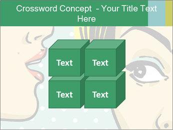 Woman telling secrets PowerPoint Template - Slide 39