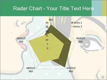 Woman telling secrets PowerPoint Template - Slide 51