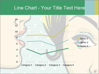 Woman telling secrets PowerPoint Template - Slide 54