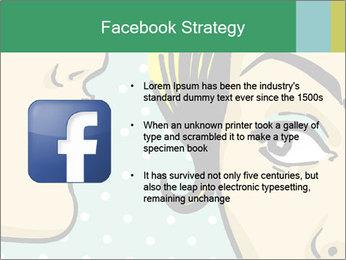 Woman telling secrets PowerPoint Template - Slide 6