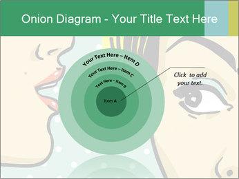 Woman telling secrets PowerPoint Template - Slide 61