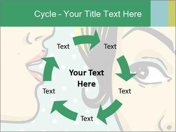 Woman telling secrets PowerPoint Template - Slide 62
