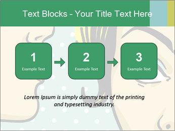 Woman telling secrets PowerPoint Template - Slide 71