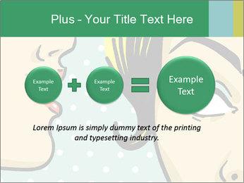 Woman telling secrets PowerPoint Template - Slide 75