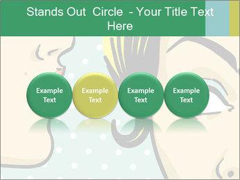 Woman telling secrets PowerPoint Template - Slide 76