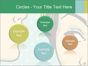 Woman telling secrets PowerPoint Template - Slide 77