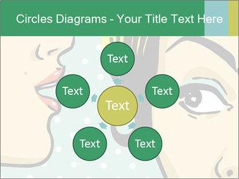 Woman telling secrets PowerPoint Template - Slide 78