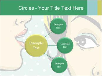Woman telling secrets PowerPoint Template - Slide 79