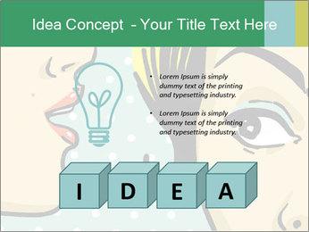 Woman telling secrets PowerPoint Template - Slide 80