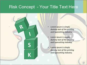 Woman telling secrets PowerPoint Template - Slide 81
