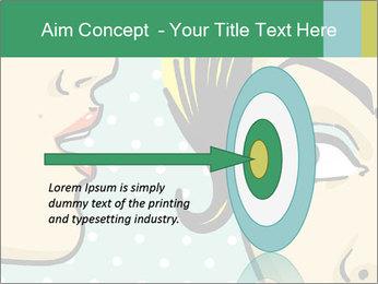 Woman telling secrets PowerPoint Template - Slide 83