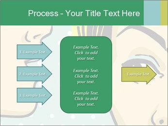 Woman telling secrets PowerPoint Template - Slide 85