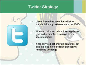 Woman telling secrets PowerPoint Template - Slide 9