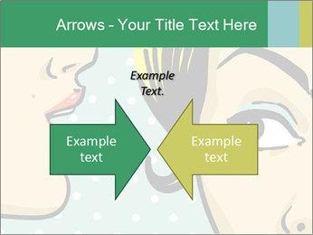 Woman telling secrets PowerPoint Template - Slide 90