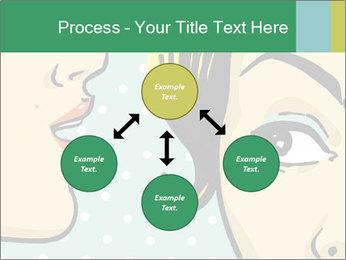 Woman telling secrets PowerPoint Template - Slide 91