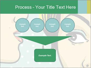 Woman telling secrets PowerPoint Template - Slide 93