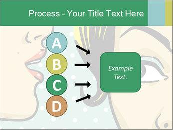 Woman telling secrets PowerPoint Template - Slide 94