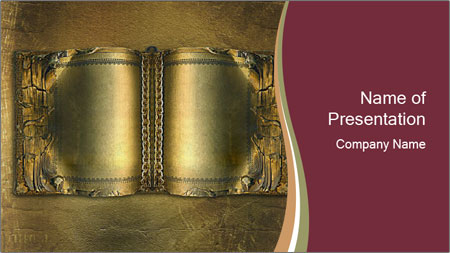 Old ancient book PowerPoint Template