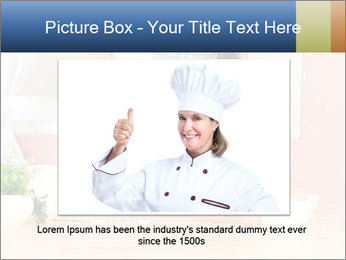 Woman is stirring PowerPoint Template - Slide 16
