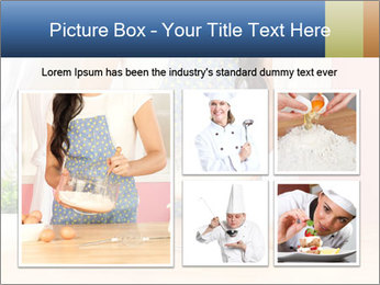 Woman is stirring PowerPoint Template - Slide 19
