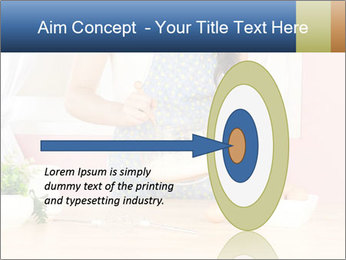 Woman is stirring PowerPoint Template - Slide 83