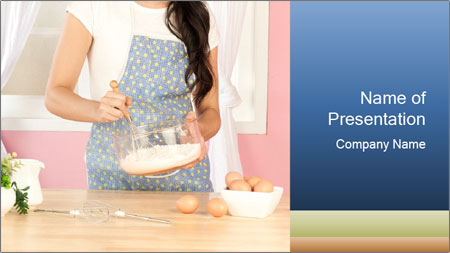 Woman is stirring PowerPoint Template