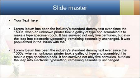 Woman is stirring PowerPoint Template - Slide 2