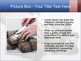 Examining packets of cocaine PowerPoint Template - Slide 13