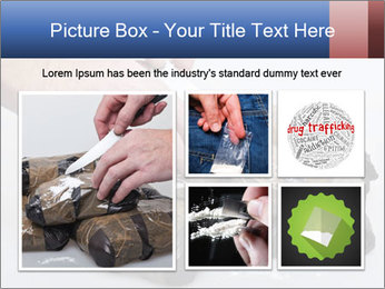 Examining packets of cocaine PowerPoint Template - Slide 19