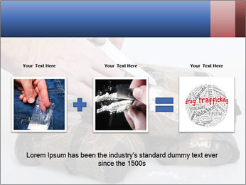 Examining packets of cocaine PowerPoint Template - Slide 22