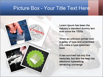 Examining packets of cocaine PowerPoint Template - Slide 23
