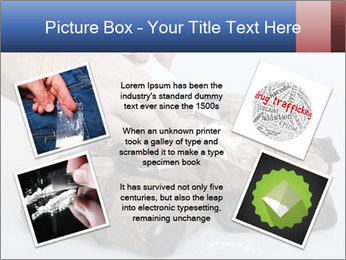 Examining packets of cocaine PowerPoint Template - Slide 24