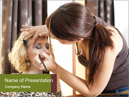 A beautiful young girl PowerPoint Templates
