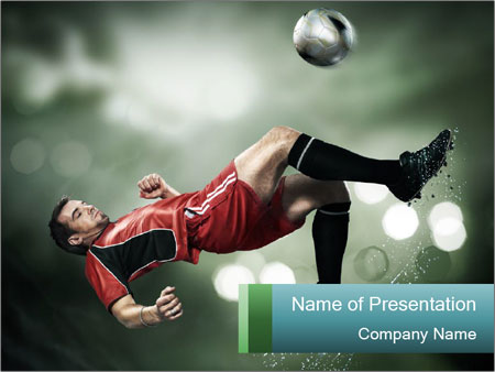 A soccer player PowerPoint Templates
