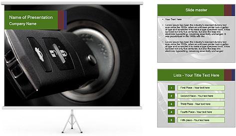 Car key PowerPoint Template