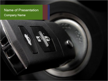 Car key PowerPoint Template
