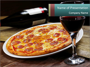 Pizza PowerPoint Template - Slide 1