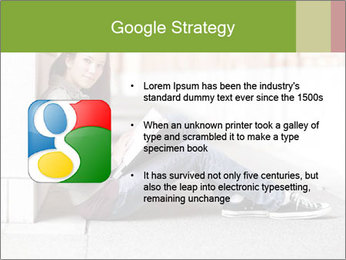 Student studying PowerPoint Template - Slide 10