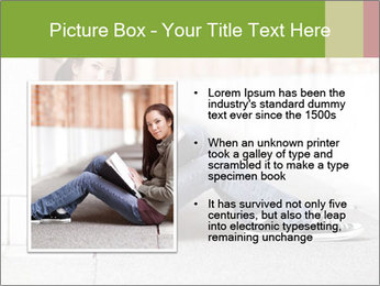 Student studying PowerPoint Template - Slide 13