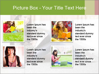 Student studying PowerPoint Template - Slide 14