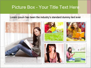 Student studying PowerPoint Template - Slide 19