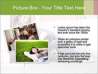 Student studying PowerPoint Template - Slide 20